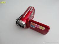 Wholesale 100x Falsh Sale Cheap MP inch Digital Video Camera x Zoom Flash Light DV139 Support Multi language DV
