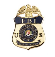 Wholesale US FBI Ternal Affairs Division Special Agent Metal Badge Pin Badge