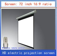 electric projection screen - inch projection screen screen home theater projector screen HD projector screen electric curtain Wireless Remote