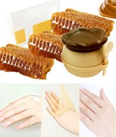 Wholesale Milk Honey Whitening Moisturizing Exfoliating Renewal Remove Dead Skin Peeling Cuticles Hand Foot Care Wax Mask