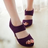 Wholesale 2014 New Sexy Zipper Open Toe Women Sandals Brand Summer Hollow High Heel Women Party Sandals Designer Plus Size Sandals Women