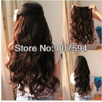 Wholesale Retail HOt Color New Sexy women s long lace Chip hairpin Clip Hair extension black light brown dark brown w12