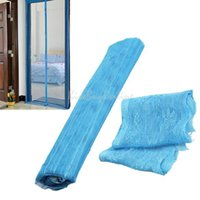 Wholesale Sky Blue Magnetic Mesh Anti Mosquito Bug Door Curtain Window Fly Screen New K5BO