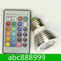 Wholesale LED E27 W RGB LED Light Spotlight Bulb Lamp Color Changing AC85V V with IR Remote Control C92