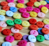 Wholesale 20000pcs Colorful Round Holes Diameter mm Resin Buttons mix colors Fashion Accessories hot sale