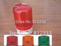 Wholesale Three Colors AC V LED Warning Light ROTATING BEACON LIGHT