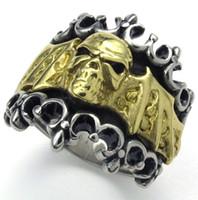 batman ring tones - New Arrival L Stainless Steel Gold Silver Tone Batman Bat Men Gothic Men s Finger Ring Size