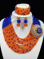 amazing costume jewelry - Amazing Nigerian Wedding African Costume Beads Jewelry Sets Layers Crystal Beads LF1031