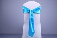 Wholesale New Wedding Decorations Silk Chair Sashes Bowknot Streamer Colorful Ribbon For wedding Birthday Party Supplies