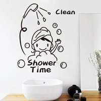 bath stickers for babies - Shower Time Bathroom Wall Stickers Baby Have A Bath Mural Removable Vinyl Waterproof Home Decor