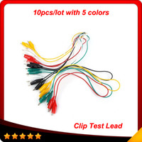 alligator clip jumper - 2014 Top selling Double ended Test Leads Alligator Crocodile Roach Clip Jumper Wire