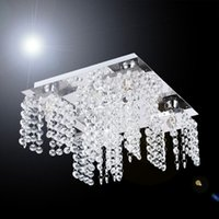 Wholesale Modern Beaded Ceiling chandelier decoration light with bulbs in Crystal for Living Room Bedroom Hallway V