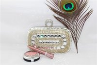 leather bag factory - Silver Clutch Bags China Factory Direct Custom Diamond Rhinestone Vintage Clutches for Women Portable Mini Chains Leather Evening Bag