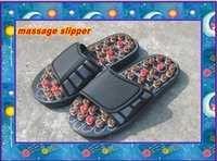 Wholesale HOT Comfortable Button Acupressure Healthy Relex Acupuncture Foot Massage Slipper Pain Relief massager Shoe with Retail box