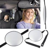 Wholesale Adjustable Belt Baby Car Mirror Facing Rear Ward View Mirror Back Kind Headrest Mount Child Kids Infant Safety Accessories K2091