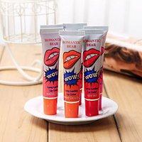 orange peel - Lip Gloss Peel off Lasts For h No Stain Marine Collagen Lipstick Balm Plant Romantic Bear Colors Makeup Moisturizing Lip Mask DHL