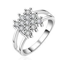 african jewelries - Hot Selling Women Luxury Sterling Silver Full Austria Crystal Ring AAA Quality Cubic Zircon Ring Wedding Party Jewelries