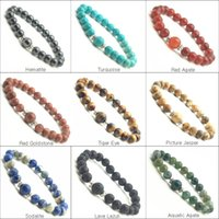 wholesale semi precious beads - Hot sale natural Red Agate Bracelet MM agate round beads semi precious stone jewelry crystal Bracelet for women and men