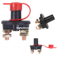 Wholesale Universal Car Truck Vehicle Battery Switch Disconnect Cut Off Rotary Switch Brass Terminals