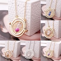 turner - European and American popular harry potter necklace necklace time converter harry potter hermione granger rotating time turner neckla