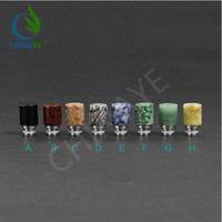 stone carving jade - High quality Drip Tip E Cigarettes Carving Art Glass Drip Tip Jade stone Drip Tip with Wide Bore Atomizer Mouthpieces