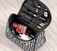 wholesale pvc cosmetic bags - 2015 big Lady Cosmetic Bags Nail Art Tool Bags Makeup Cases Toiletry Holder Storage Organizer Makeup bags PVC Travel bag Zebra Wash bag