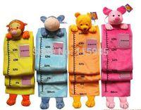 height measurement ruler - 1pc retail cartoon fashion children animal head measurement ruler growth height chart plush toys