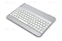 apple keyboard dock - New White Aluminum Bluetooth Wireless Keyboard Case Cover Dock with Stand for Apple iPad Air iPad
