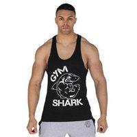 Wholesale Men Cotton Stringer Gym Shark Tank Top Sport t Shirt Bodybuilding Singlets Fitness Sleeveless Shirt Camisa Masculina MS0007