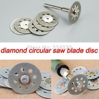 Wholesale 10x mm cutting disc diamond grinding wheel diamond disc circular saw blade abrasive mini drill dremel rotary tool accessories