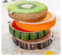 Wholesale High Quality D Simulation Plush Fruit Cushion Peony Man Round Pillow Chair Seat Sofa Meditation Floor Cushions Birthday Gift