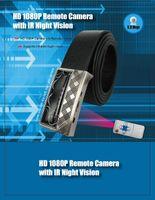 Wholesale HD P Leather Belt Buckles Camera Video Audio Recorder DVR Infrared Night Vision Spy Hidden Camera Camcorder Remote Control Mini DV DVR