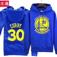 Wholesale for Stephen Curry Number Long Sleeves Hoodies Autumn and Winter Men Male Fashion Cotton Sweatshirts Streetwear