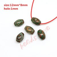Wholesale Hot Approx12mm mm Prayer Mala Tibetan Mystical Agate Dzi Green Eyes Beads DIY necklace Gift w03461
