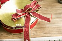 Wholesale 13m Gold Ribbon Tree Ornament New Arrival Hot Selling Home Garden Festive Party Christmas Decoration Supplies