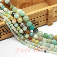 amazonite faceted beads - Natural Stone Faceted Colorful Amazonite Round Beads quot Pick Size mm F00163