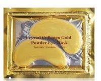Wholesale 2015 Anti Wrinkle NEW Crystal Collagen Gold Powder Eye Mask Golden Mask stick to dark circles