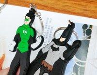 Wholesale 2014 New Multi patterned Cartoon Key Rings Superman Batman key ring Key Chain kids toys Christmas gift
