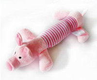 Wholesale Dog Toys Pet Puppy Chew toys Squeaker Squeaky Plush Sound Duck Pig Elephant Toys colors pets Sound toys