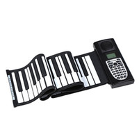 Wholesale Stylish Portable Standard Keys Soft Keyboard Roll Up Piano with LCD Silicone Electronic Piano D True Type Keys order lt no track