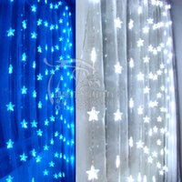 bead string partitioning - Small night light decoration console partition decoration meters five pointed star bead led string of lights