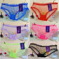 Wholesale Women Lady Sexy See through Panties Briefs Knickers Bikini Underwear Lingerie