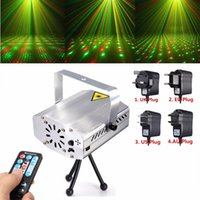 Wholesale Silver Mini R G Auto Voice Xmas DJ Disco LED Laser Stage Light Projector Remote LIF_226