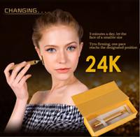 Wholesale 1PCS k Gold BEAUTY BAR Facial Roller Serum Massage Derma Skincare Wrinkle Treatment