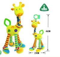 Wholesale Crib toys with Rattle Teether Infant Early Development Toy Stroller Music Baby Doll Toy Cloth