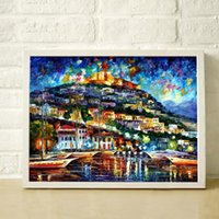 Cheap Landscape color painting Best Free shipping