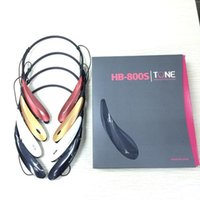 Wholesale HB S HBS Wireless Bluetooth Stereo Headset Earphone for Iphone plus S S Samsung Note s4 s5 TONE HBS800 Mobile