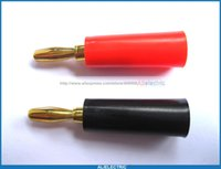 banana plug types - 20 Banana Plug Gold Plated Red Black mm Type with Screw