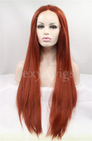 Auburn auburn hair pictures - The Latest Fashion Straight Auburn Color Heat Resistant Wig Synthetic Lace Front Wig Color Style As the Picture Show