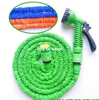 Cheap 100pcs lots 50FT High quick Connector Expanding magic water Hose,Pocket hose flexible hose,Garden Hose with water gun